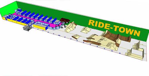 Схема парка Ride Town