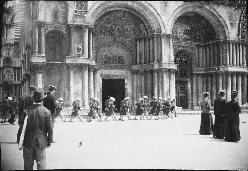 Венеция. Вход в базилику Сан-Марко, 1900
