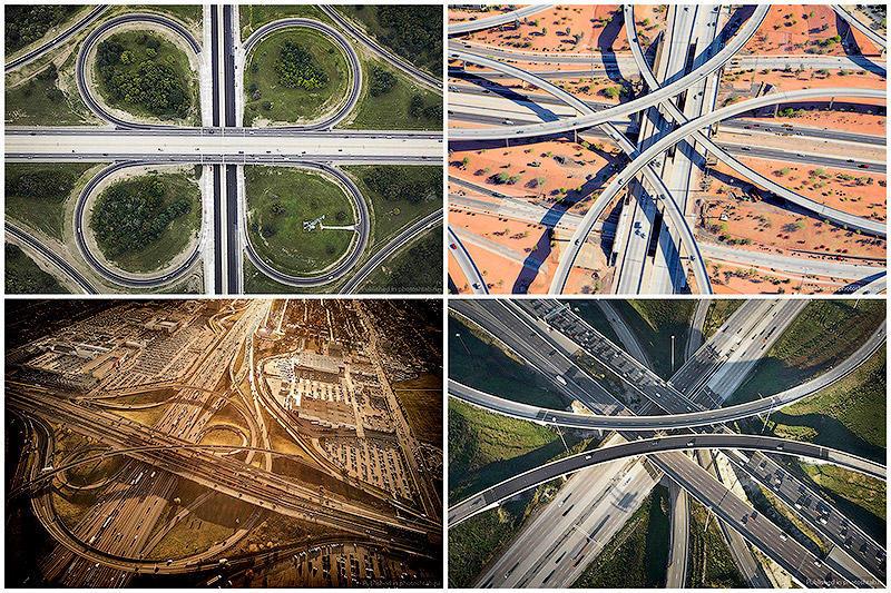 Там, где расходятся дороги: Аэросъёмка от Питера Эндрю (11 фото)