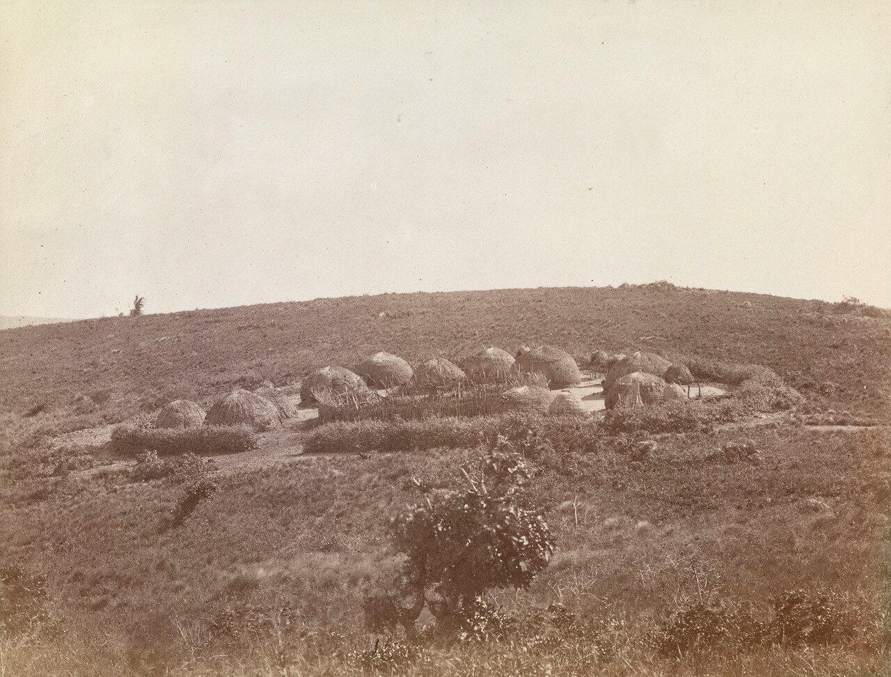 Нью Гелдерланд. Крааль в поселении зулу