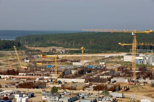 Строительная площадка четвертого блока Белоярской АЭС