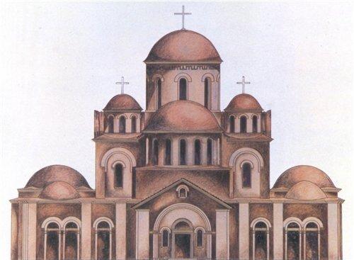 Десятинная церковь. Реконструкция Н.Холостенко