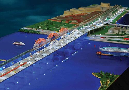 Дарницкий железнодорожно-автомобильный мост (проект)