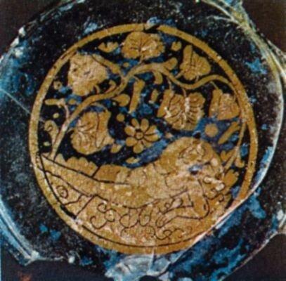 Донышко ритуальной чаши с изображением Ионы 4в.