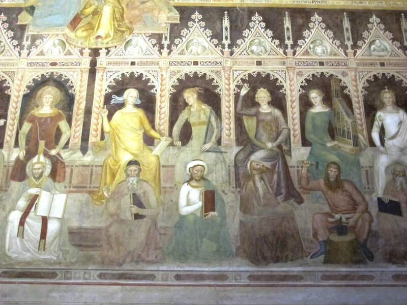 011-Проповедь и Августин, Арифметика и Пифагор, Геометрия и Евклид, Астрономия и Птолемей, Музыка и Тувалкаин (Андреа Бонаюто).jpg