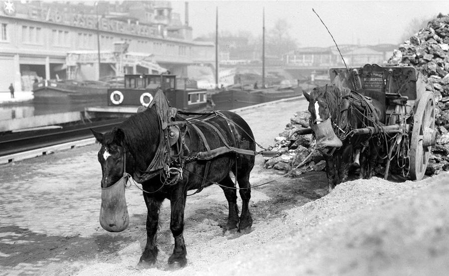12 Le repas des chevaux, Canal Saint-Martin, 1931.jpg