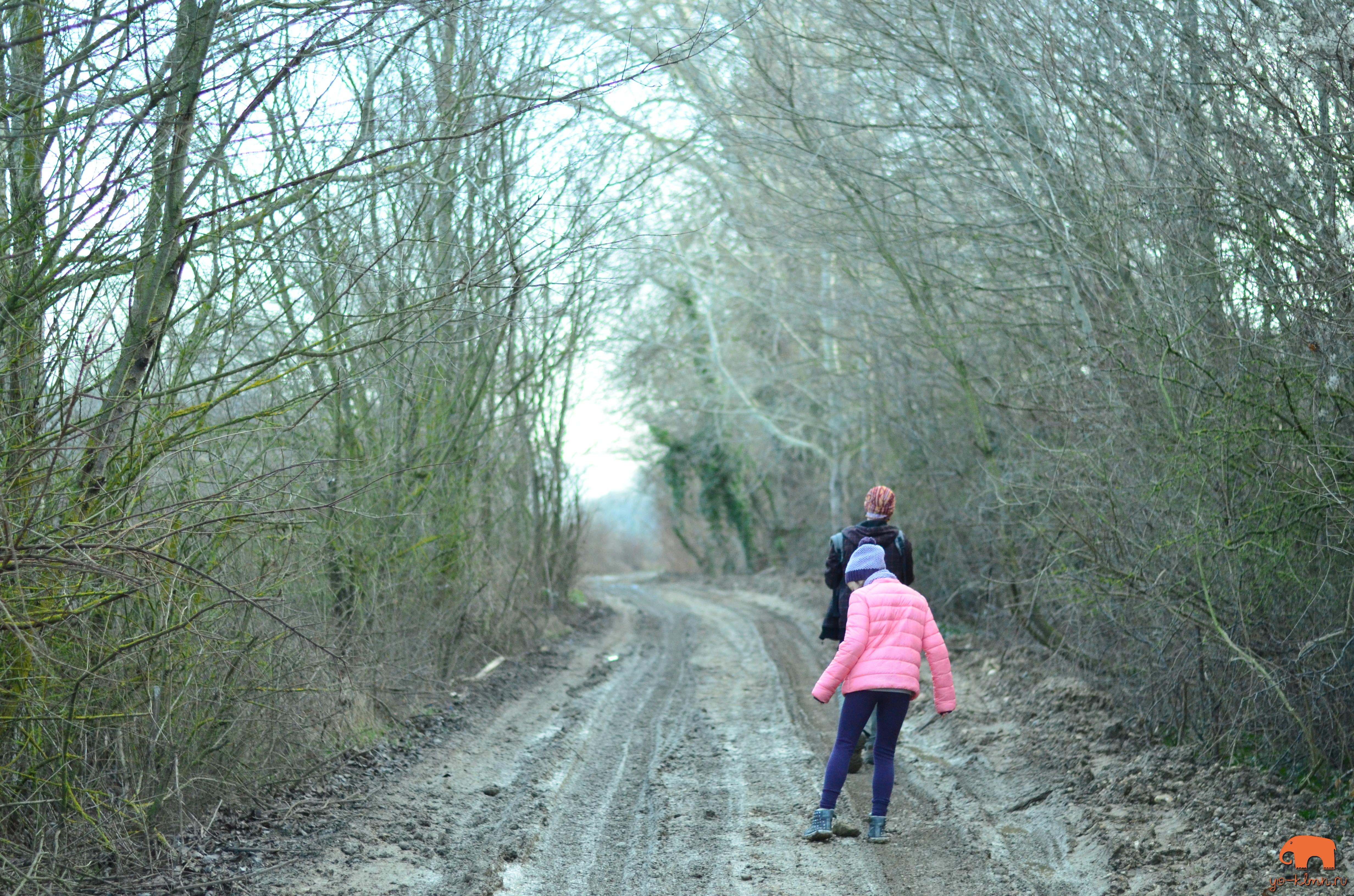 грунтовая дорога девочка в розовой куртке || yo-klmn.ru
