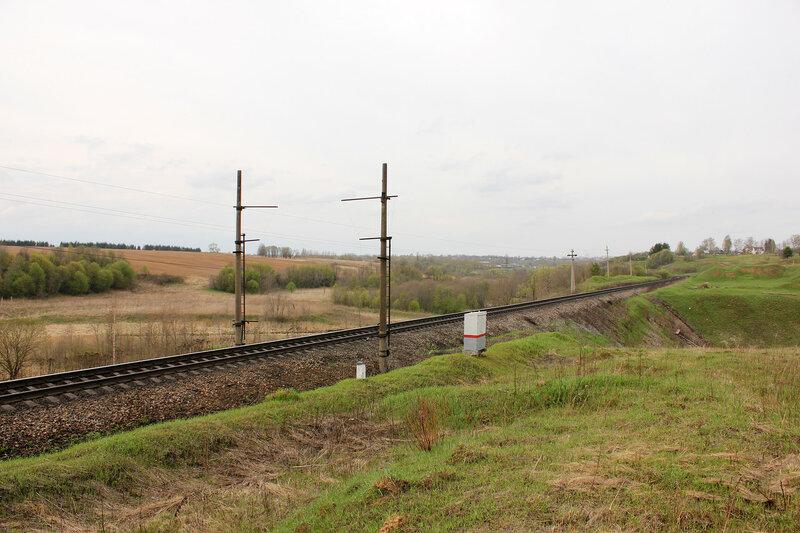Габаритная рамка на приближении к станции Зубцов со стороны Бартенево
