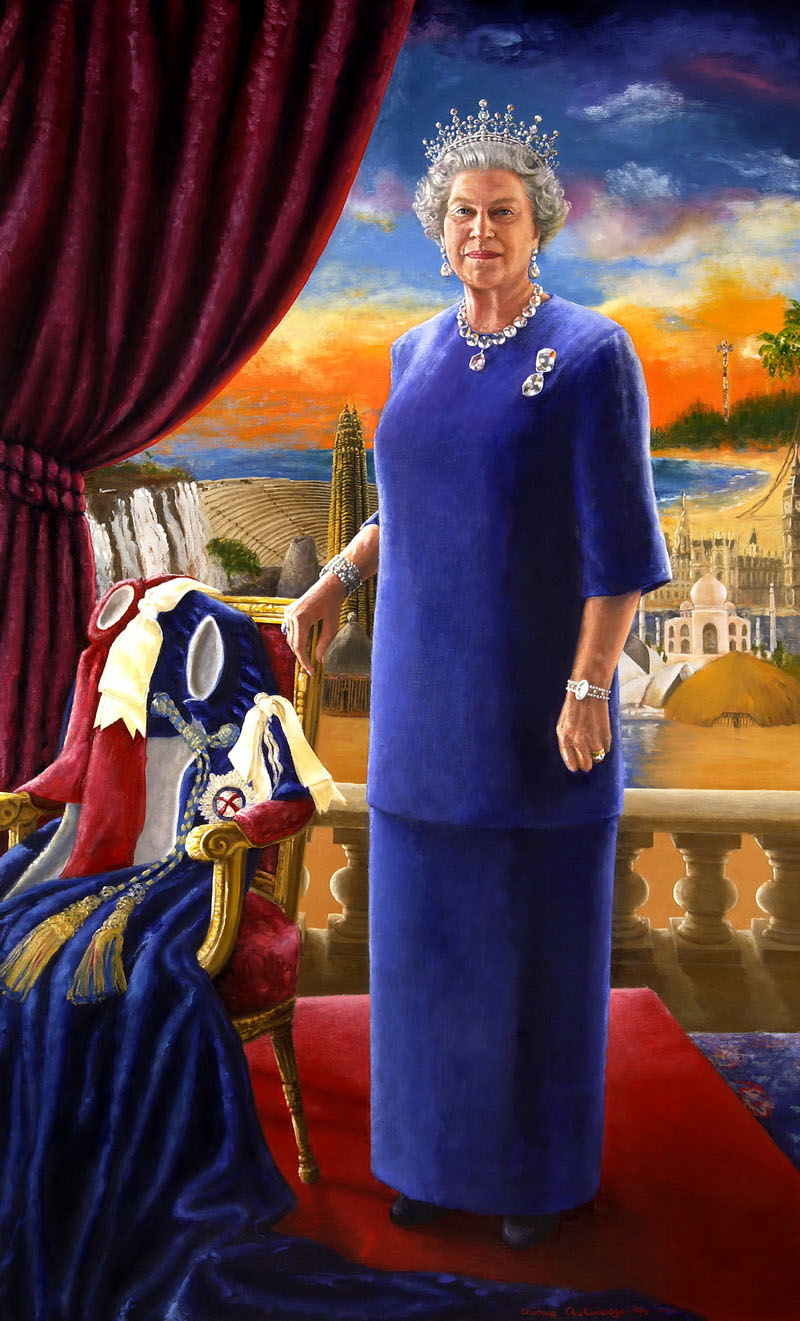 Portrait of HM Queen Elizabeth II by Chinwe Chukwuogo-Roy, 2002