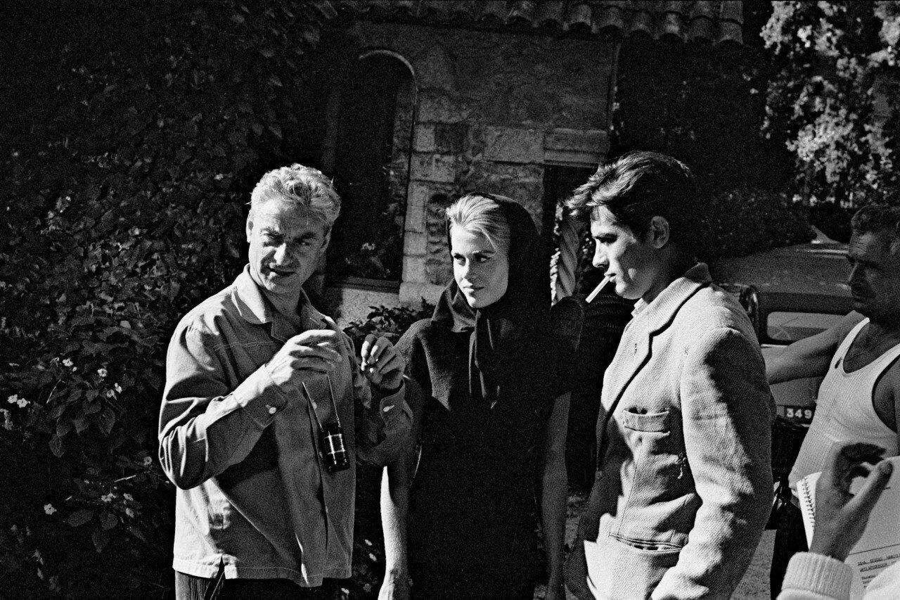 1964. С Рене Клеманом и Джейн Фонда на съемках фильма «Хищники»