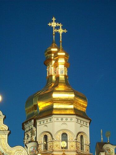 Купола Успенского собора Печерской лавры