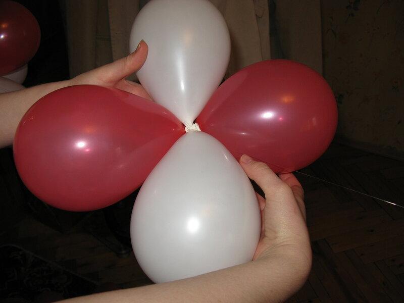 Как сделать гирлянду из воздушных шаров.