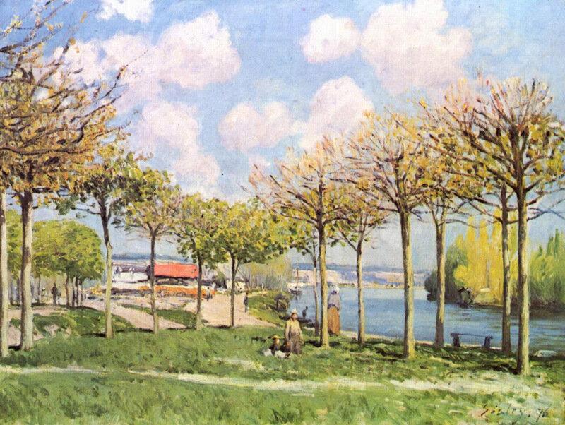 Сислей Сена близ Буживаля 1876