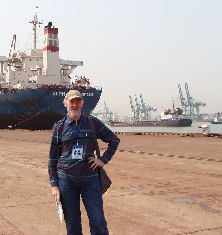 В порту Тяньцзинь. Железорудный терминал