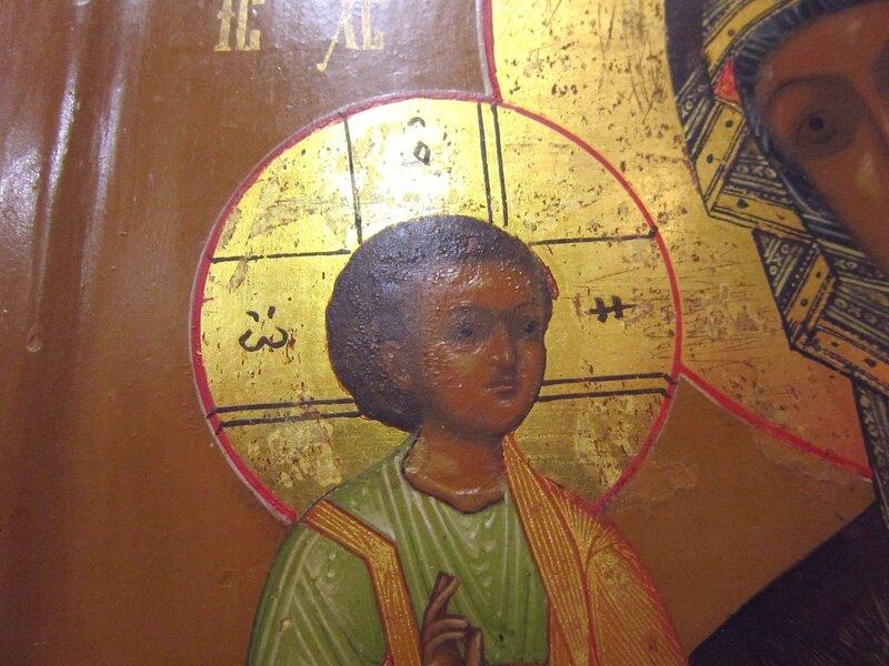 """Икона Божией Матери """"Троеручица"""". Вторая половина XIX века."""