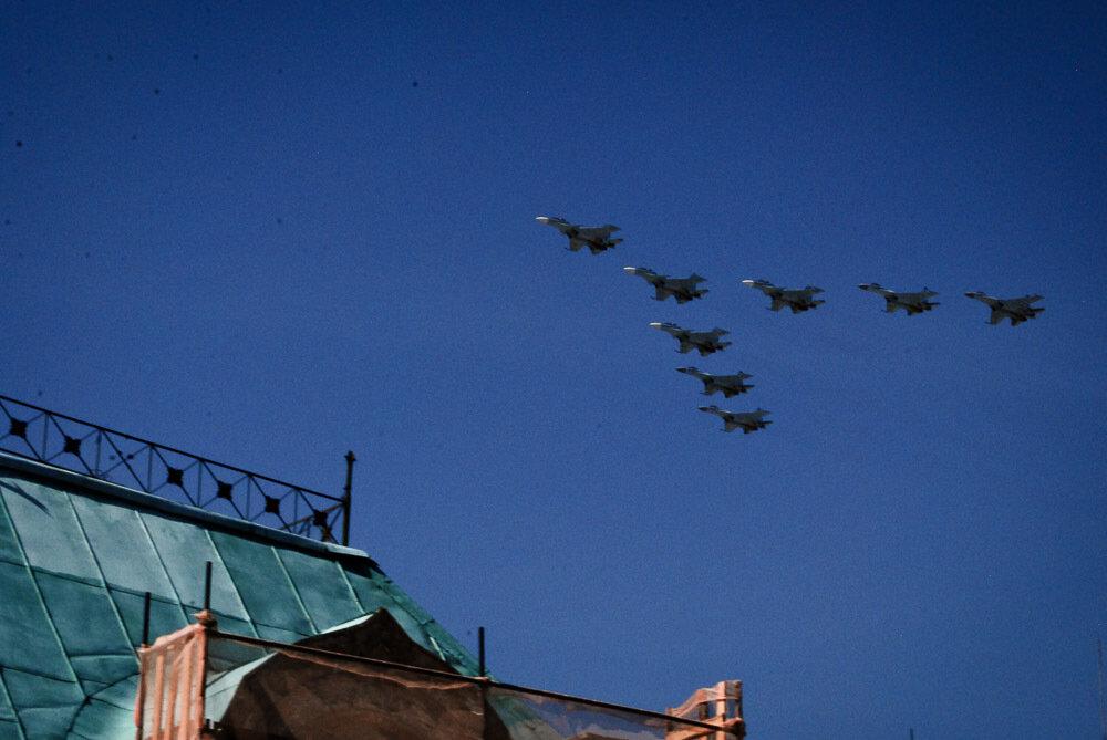 Репетиция парада самолеты