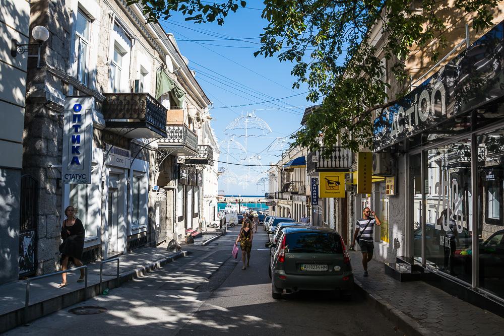 ленинградская улица города ялта фото