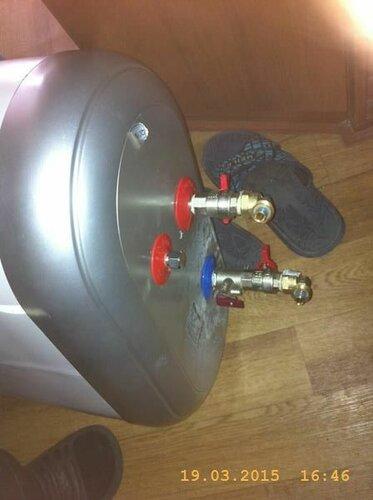 Нацепили (пока удобно) арматуру на водонагреватель Термекс