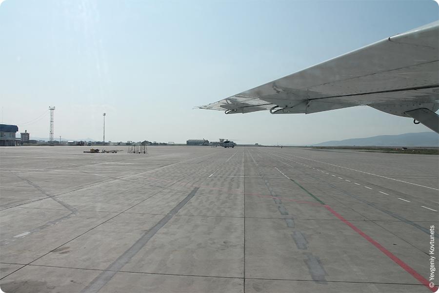Взлетно-посадочная полоса аэропорта Байкал, г. Улан-Удэ, Бурятия, впп