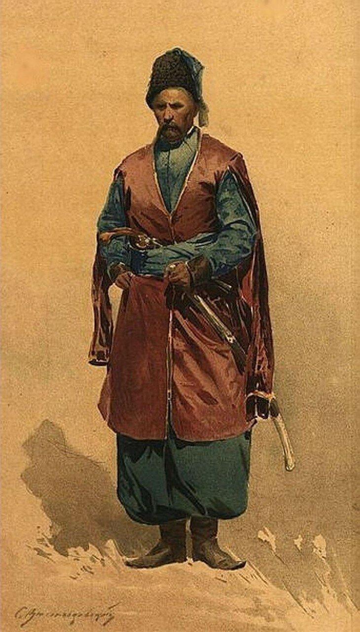 Полковник реестрового левобережного полка в кунтуше, 1900