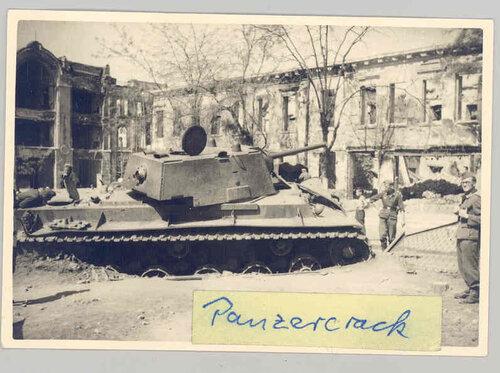 КВ-1 производства ЧТЗ, июль 1942, Ростов-на-Дону, Кафедральный собор