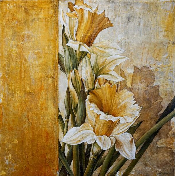 Нарисованные цветы от linda thompson