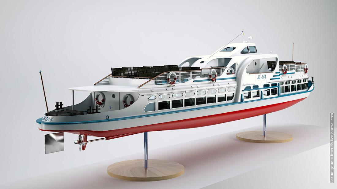 речной трамвайчик 3D модель
