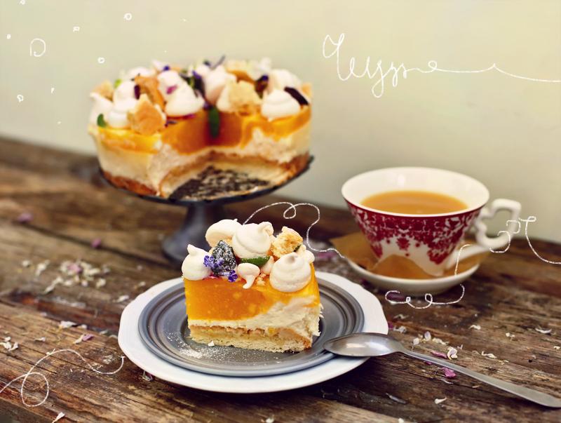 Торт Чизкейк с манго - пошаговый рецепт с фото #2.
