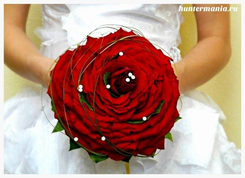 Какие бывают свадебные букеты - букет гламелия