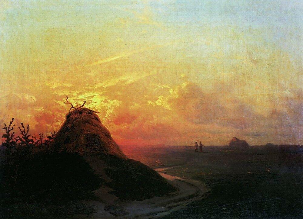Сжатое поле. Закат. 1861.jpg