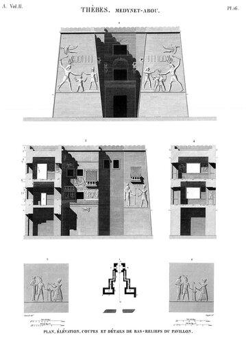 Дворец Рамсеса III в Мединет-Абу, восточные оборонительные ворота