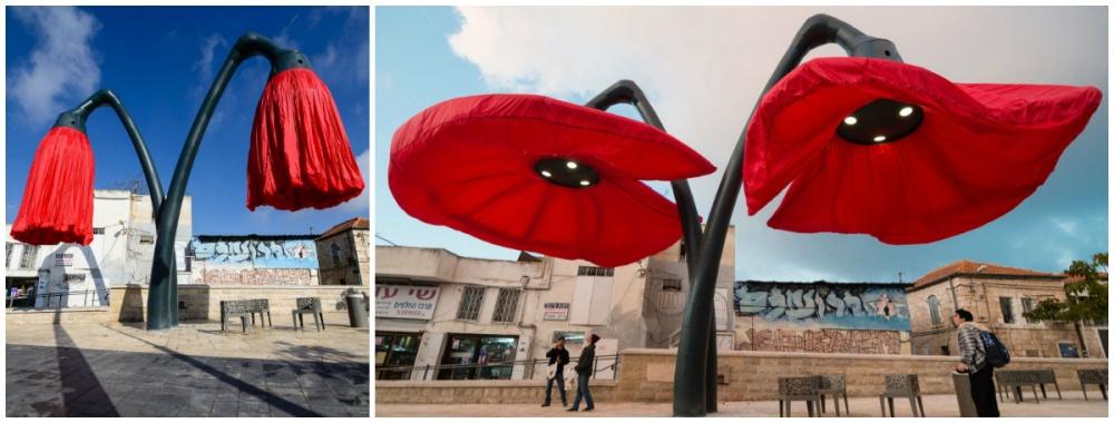 Ужителей Иерусалима появилась возможность полюбоваться необычной инсталляцией: гигантские 9-метровы