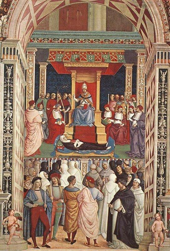 Пинтуриккио, Канонизация Екатерины Сиенской Папой римским Пием II, 1502-08