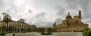 Дворец Палермо, город, панорама, пасмурно