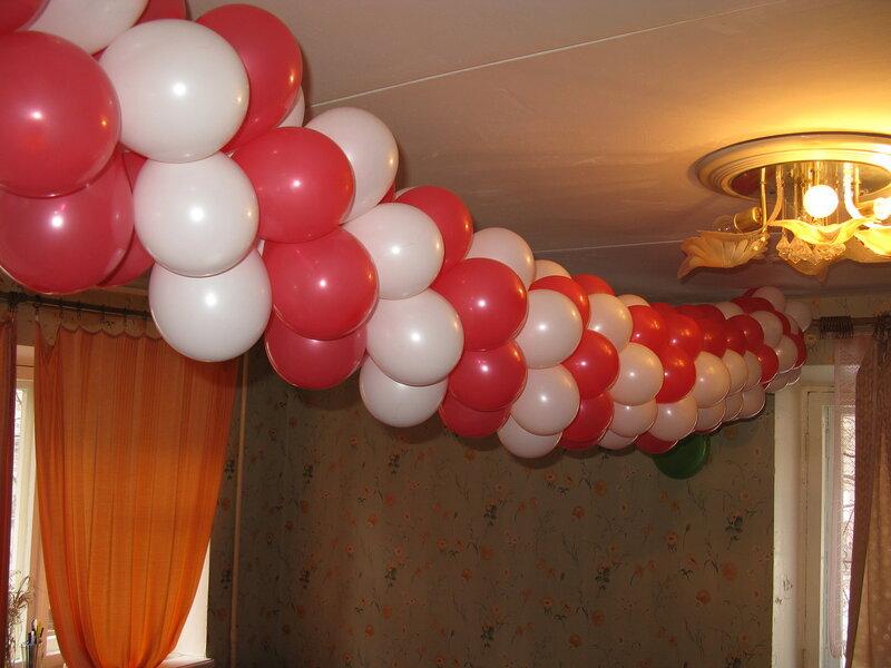 Сделать гирлянду из шаров своими руками
