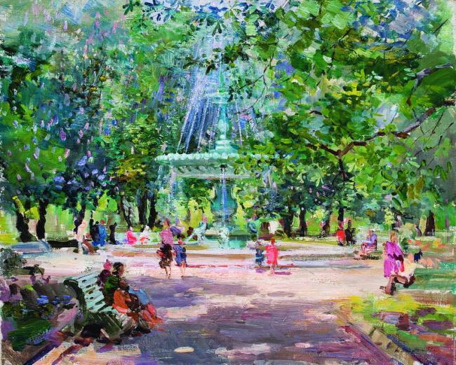 С.Ф.Шишко Фонтан у парку