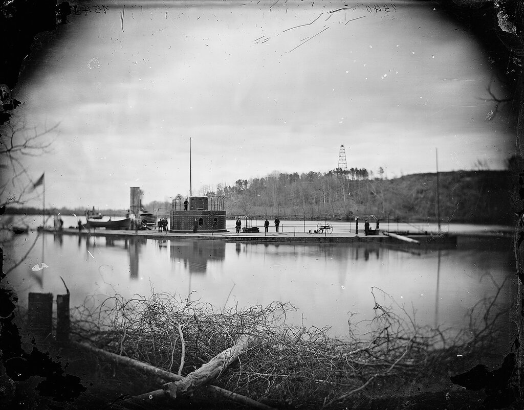 USS Lehigh, on the James River, 1864