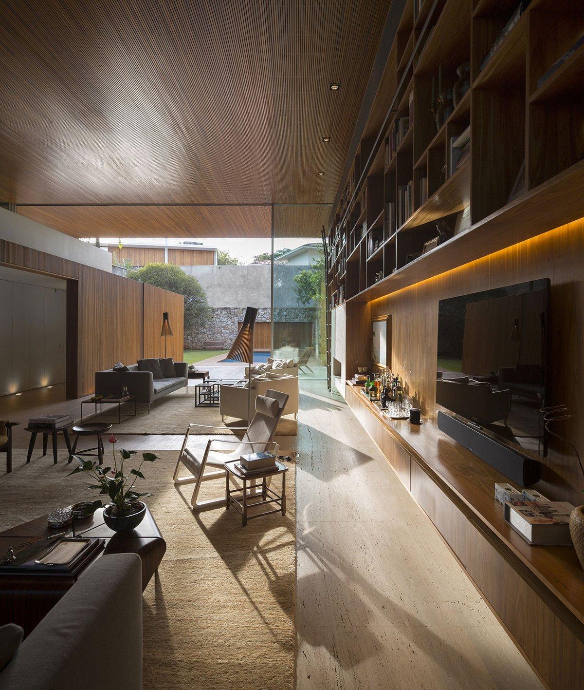 Studio MK27, Tetris House, деревянный фасад дома фото, фасад дома из бетона примеры, обзор особняка Сан-Паулу, элитная недвижимость в Бразилии