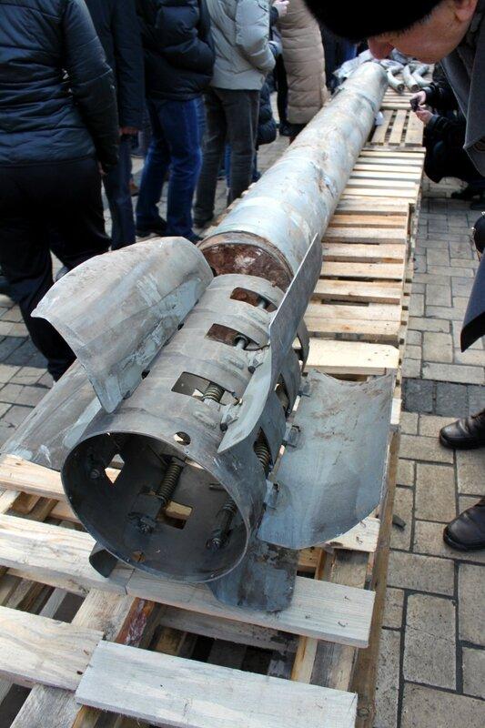 Неразорвавшаяся ракета Смерч