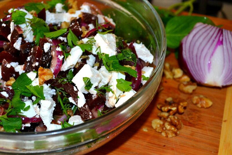 Салатик из свеклы с фетой