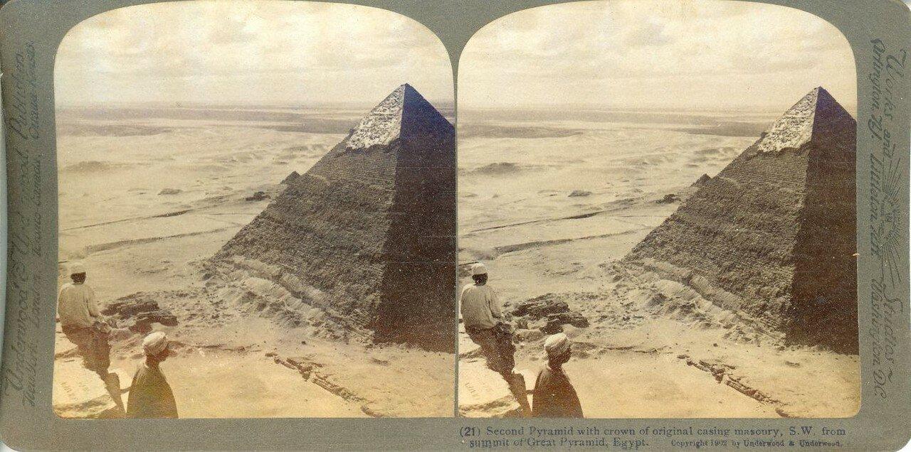 Гиза. Вид Второй пирамиды. 1902