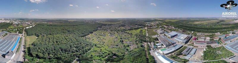 Панорама с высоты около Химмаша