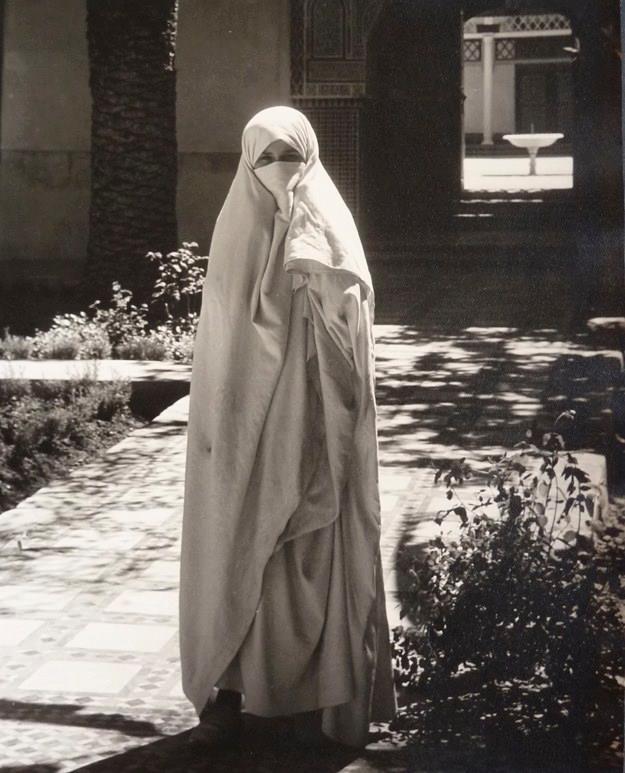 Morocco.A veiled woman.1930.jpg