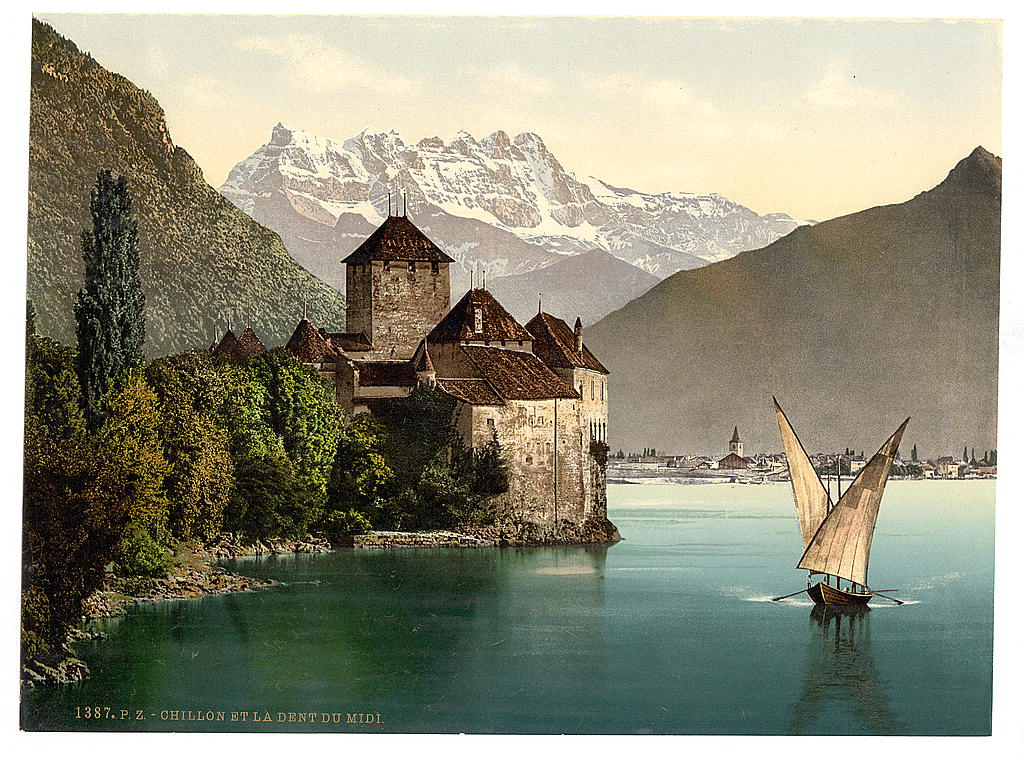 01. Chillon Castle, and Dent du Midi, Geneva Lake, Switzerland