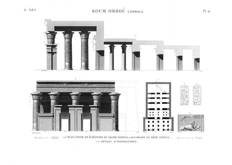 Храм в Ком-Омбо, Чертежи большого храма
