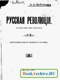 Русская революция (ее начало, арест царя, перспективы).