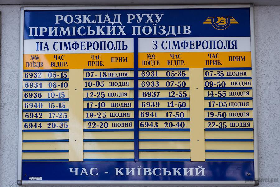 Севастополь. Вокзал. Расписание