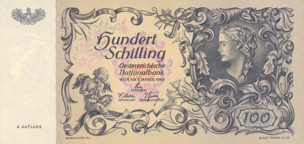 Австрия, 100 шиллингов, 1949