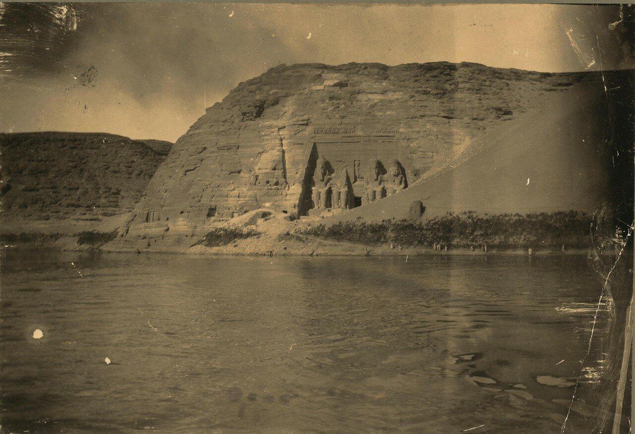Абу-Симбел. Колоссы Великого храма. 1860