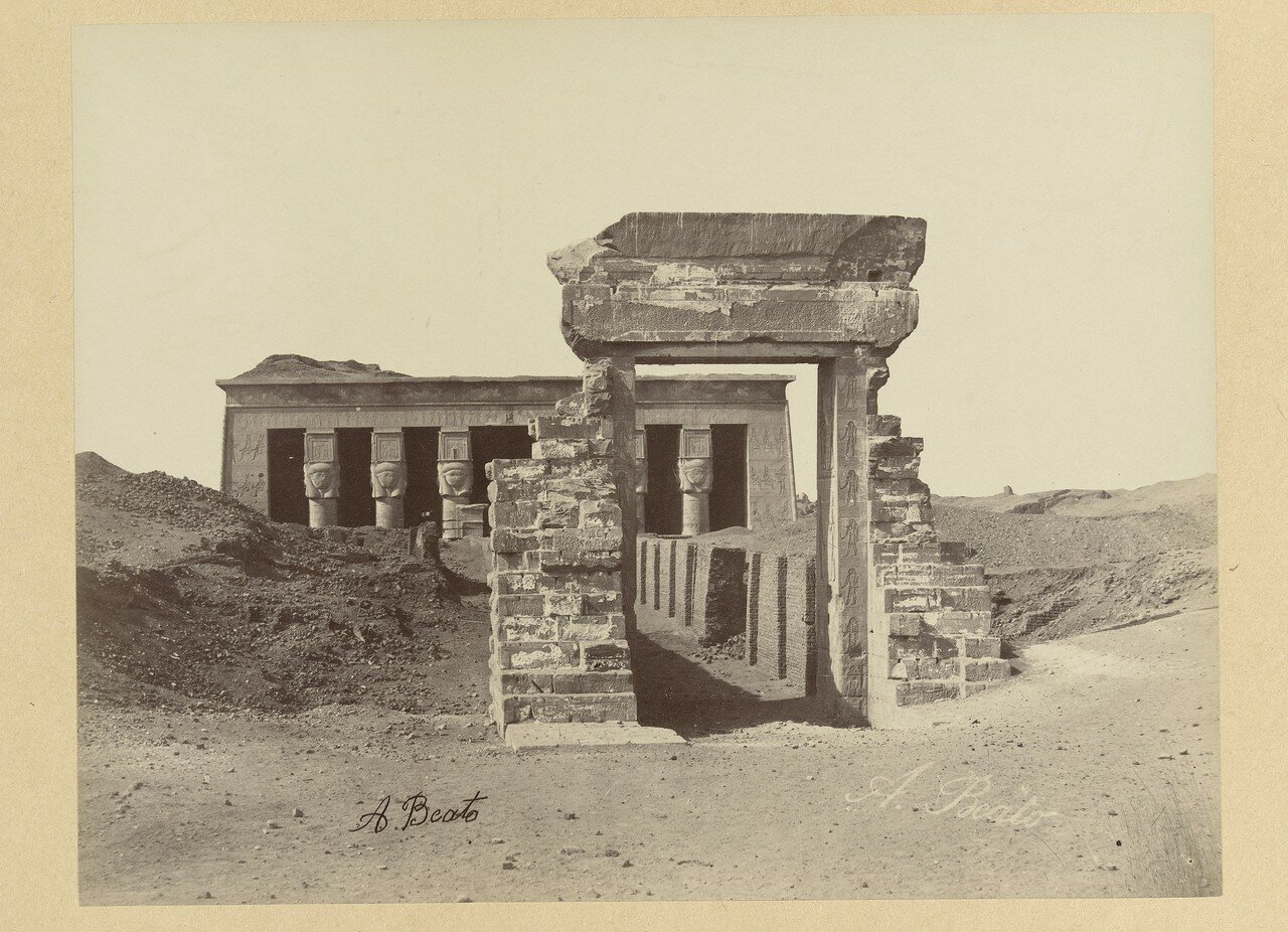 Дендера. Руины храма Дендера